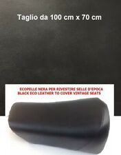 Ecopelle Nera per selle d'epoca - Black cover vintage seats 100 cm x 70 cm