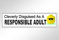 funny car bumper sticker cleverly disguised as a responsible adult 200 mm decal