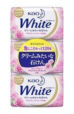 KAO Brand JAPAN White Soap 130 g 3 pcs Beauty Bath Soap Aromatic Rose