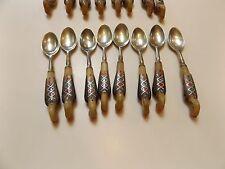 Haddad Jezzine Cutlery - Demitasse Salt/Sugar Spoons -1940-50s - Golden Phoenix