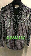 GUCCI Crystal-Impreziosito Cardigan Taglia L UK12 RRP £ 3100