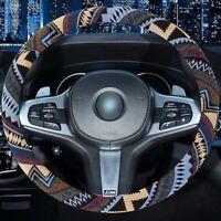 "Universal Auto Car Steering Wheel Cover 38cm/15"" Brethable Linen Flax Antislip"