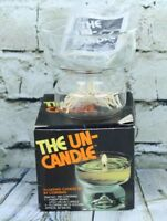 The Un Candle Floating Candle Set by Corning Pyrex Item 138 Little Un Vtg 70s