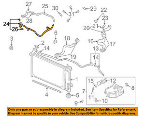Buick GM OEM 06-07 Rendezvous 3.5L-V6 Radiator-Bypass Pipe 12594453