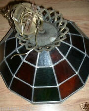 Huge Stained Glass light fixture  Multi colored