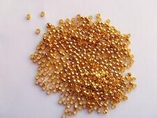 200pz  schiaccini colore oro  2mm lead,nickel free