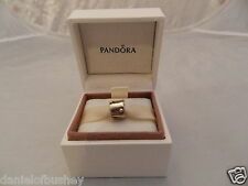 Pandora Silver & Gold Dotted Drum GENUINE Charm Style Number 790229