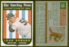 (19189) 1959 Topps 138 John Romano-Rookie Stars White Sox-EM