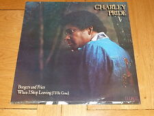 CHARLEY PRIDE - Burgers & Fries - 1978 UK 10-track vinyl LP compilation