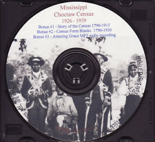 Choctaw Mississippi Indian Census Rolls 1926-1939 - Holiday SALE