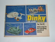 Dinky Toys Catalogue No. 12, Dated 1976, Superb.