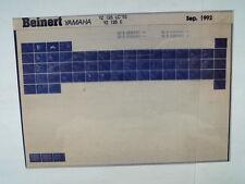 YAMAHA YZ 125 _ LC E _ 1993 microfilm catalogo ricambi PEZZO DI LISTELLO