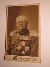 Metz - alter Soldat in Uniform mit Epauletten - viele Orden - General ? / CDV
