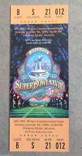 SUPER BOWL FOOTBALL TICKET - FULL - 1994 XXVIII 28 -  COWBOYS BILLS - MINT