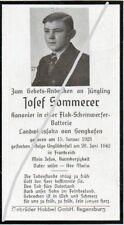 STERBEBILD   AVIS DE  DECES  SOLDAT  ALLEMAND  NORMANDIE  1942    ( 149 )
