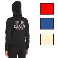 True Religion Women's Logo Zip Up Hoodie Sweatshirt