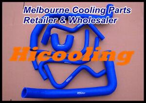 Blue Silicone radiator hose fit HOLDEN VT VX VU WH Commodore V6 3.8L 1997-2002