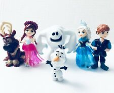 Frozen Olaf Elsa Anna 6 Set Mini Figure Cake Topper Collectible Doll