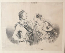 Honore Daumier France 1808 -1879  Lithograph La Tragedie No. 1 Lithograph Framed