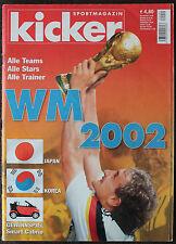 Fußball FOOTBALL KICKER DFB XVII. FIFA WM WC WELTMEISTERSCHAFT JAPAN KOREA 2002