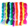 24'' Synthetic Afro Twist Braids Hair Extensions Monochrome Jumbo Braid Hair
