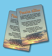 """Pennies From Heaven"" - Poem - 2 Verse Cards - SKU# 726 A"