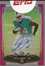 2014 Topps Bowman Chrome Football Jarvis Landry Autograph RC 177 Pink Refrac /75