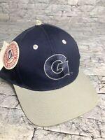NWT Vintage 90's Georgetown Hoyas Logo 7 Blue Gray Logo SnapBack Hat