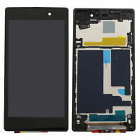 For SONY Xperia Z1 L39 L39H C6902 C6903 LCD Touch Screen Assembly + Frame RL01