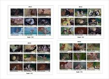 2018 Disney BAMBI 4 SOUVENIR SHEETS animation cartoons