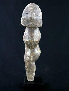 Art Africain Arts Premiers Tribaux - Fétiche Adan Aklama sur Socle - 28 Cms ++++