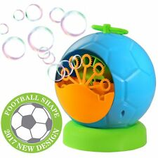 Bubble Machine Blowing Bubbles Solution Kids Game Blow Air Outdoor Indoor Toy