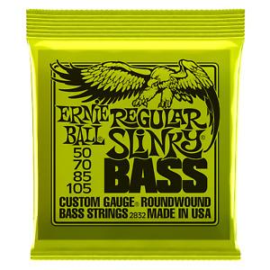 Ernie Ball Regular Slinky Nickel Wound Electric Bass Strings 50-105