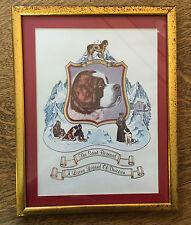 St Bernard Dog Coat of Arms Framed Print w/ History Living Legend 11.5 x 91/4 in