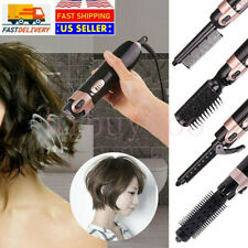 4 In 1 Hair Blow Dryer Straightener Curler Heads Fast Hair Curling Irons Comb US