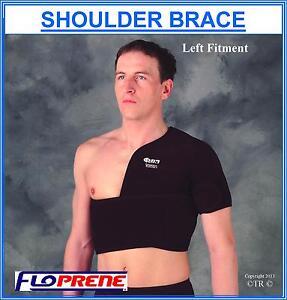 Floprene Shoulder Support Brace Black Adult Free Size Medical Arm Protector Gear
