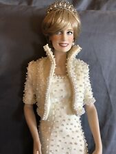 Franklin Mint Princess Diana Doll Female Porcelain Princess Of Wales Collectkble
