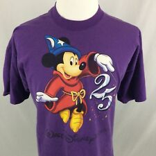 Vtg Walt Disney World 25th Anniversary Shirt Xxl Mickey Mouse Mickey Inc Purple