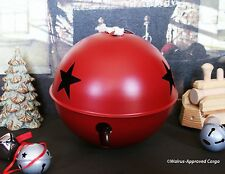 POTTERY BARN GIANT JINGLE BELL ORNAMENT -NIB- RING IN NOEL IN A REALLY BIG WAY!