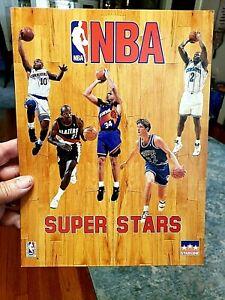 NBA SUPER STARS 1993 FOLDER Barkley Stockton Drexler Hardaway 9 x 12 in Starline