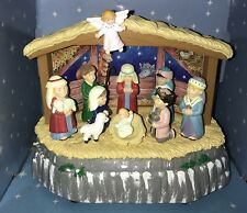 1997 Maistro Animated Musical Lil Nativity 7 Moving figurines 20 Songs New