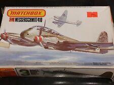 Classic Matchbox Messerschmitt Me 410 1/72nd 3 colour model kit. PK-113 Complete