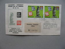 PARAGUAY, R-cover FDC to Germany 1975, NORD POSTA 75