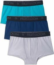 Fruit of the Loom Men's Breathable Cooling Cotton Short Leg Boxer Briefs 3-Pack