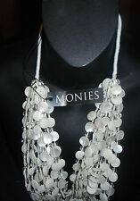 Gerda Lynggaard Monies bib necklace massive multi strands mother of pearl shells