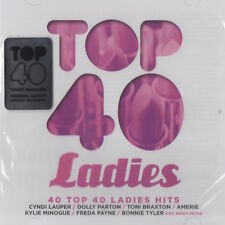 TOP 40 LADIES - KYLIE MINOGUE / CYNDI LAUPER ETC.- DOUBLE CD - (NEW & SEALED)