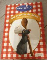 LIVRE RATATOUILLE Les recettes de Remy Hachette Pratique Disneyland Paris