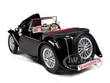 1947 MG TC MIDGET BLACK 1/18 DIECAST MODEL CAR BY ROAD SIGNATURE 92468