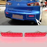 Reflector Red LED Rear Bumper Light Brake Tail Lamp For Mitsubishi Lancer-ex