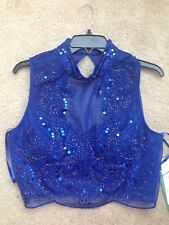 NWT LOVE REIGN Ladies Blue Dressy Beaded Bling Top Sz 15